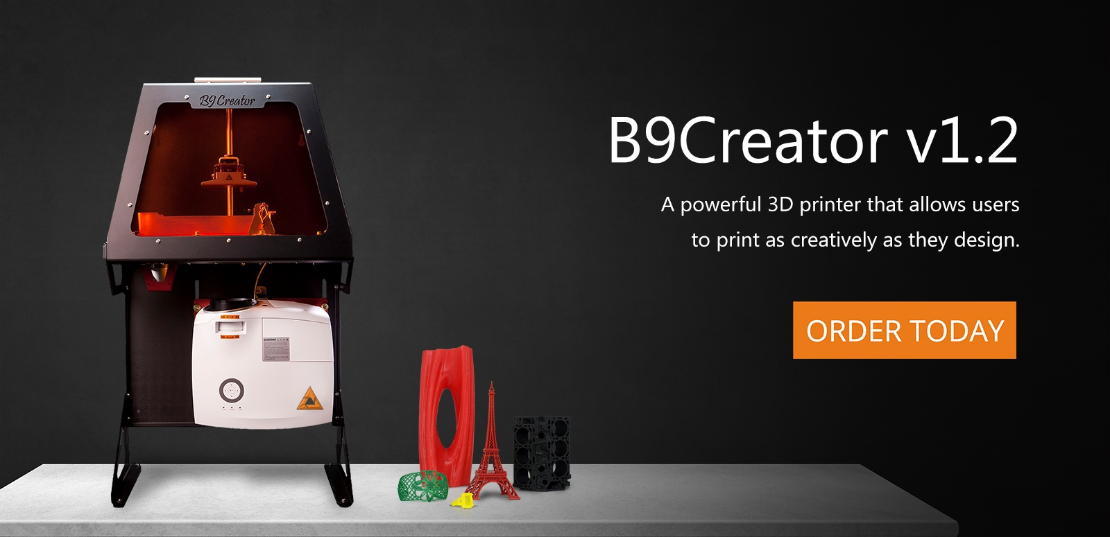 The B9Creator is the best 3D printer when it comes to resolution, versatility, and affordability.