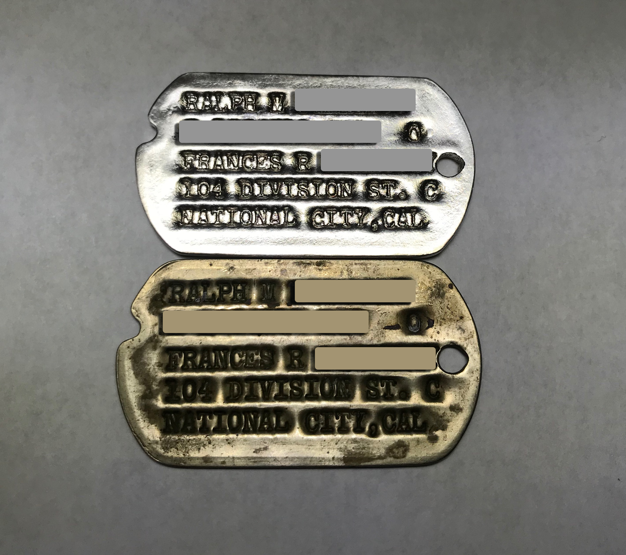 Dog tag replica