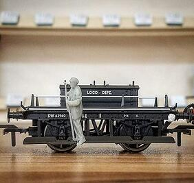 3d printed railway models gray resin on b9 core series b9creations 2