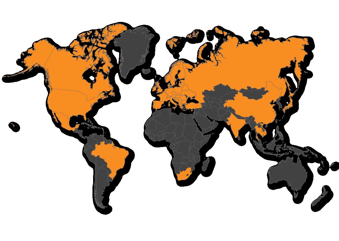 Global Dealer Network Map