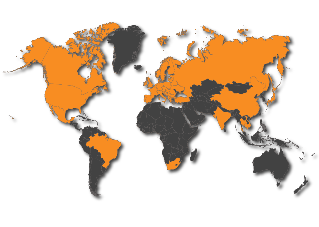 Global Dealer Network Map