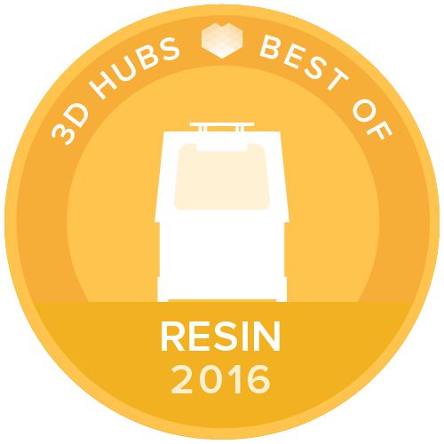 Top ranking award in 3D Hubs 2016 3D Printer Guide