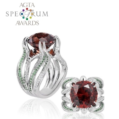 See the AGTA Spectrum Award-winning Ring Printed on a B9 Core Series