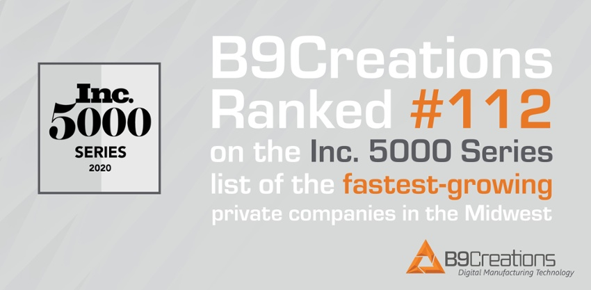 B9Creations Named on Inc. Magazine's 5000 Series: Midwest List