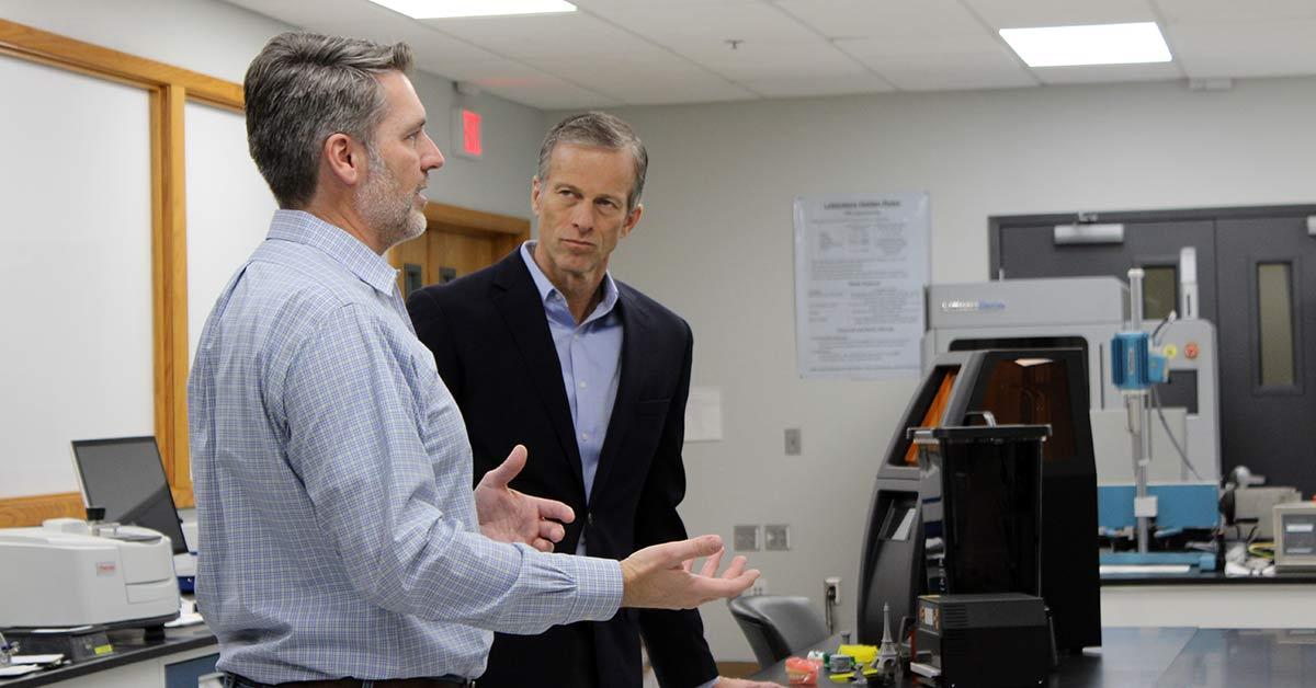 Senator John Thune visits Rapid City — praises local tech company