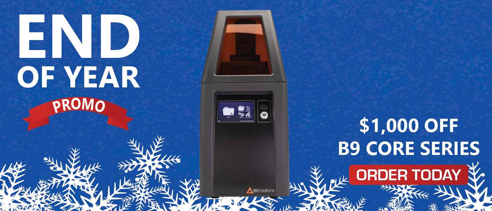 Year-end 3D Printer Promo